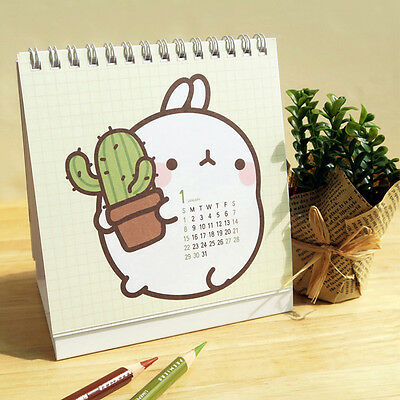 Molang illust 2017 Desk Mini Calendar Office Schedule Planner - Korean version