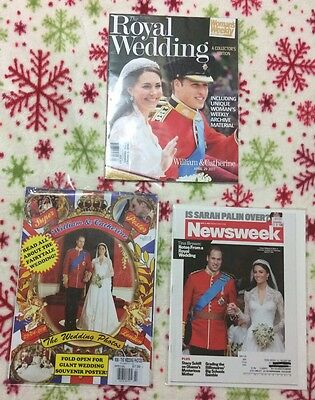 3 William & Kate wedding magazines (one is more a poster)