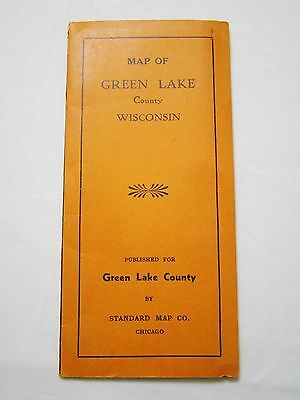 Vintage Map Of Green Lake County Wisconsin Standard Map Co. Chicago
