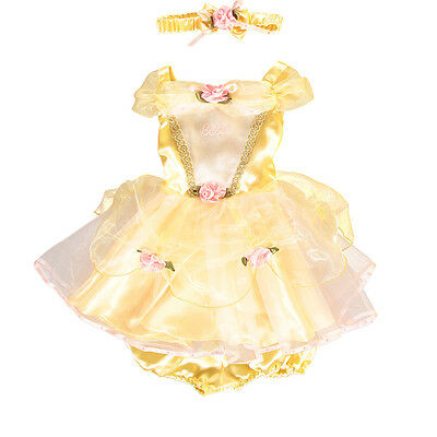 baby girl Disney Princess Belle fancy Dress Up  Costume Outfit 12 - 18 mths