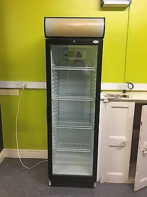 Tall Glass Fronted Fridge