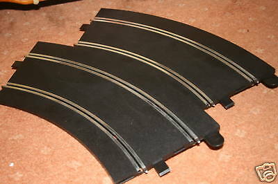 SCALEXTRIC/SPORT C8297 RADIUS 3 LONG BANKED CURVES X2 GRADE B c/w SUPPORTS