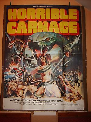 "Affiche Cinéma Originale ""HORRIBLE CARNAGE"" (Jennifer ) de Brice MACK 120 x 160"