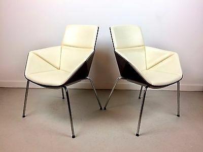 Mid Century Modern Allermuir Phoulds High Back Origami **chair** Chrome Walnut