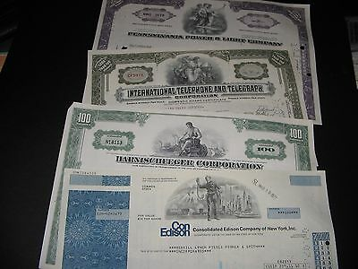 4 Old Stock Certificates