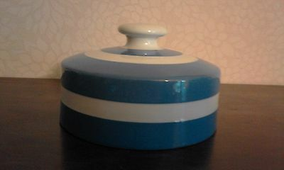 T.g. Green Cornishware. Butter Dish Lid Only.