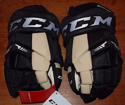 New Pro Stock Ccm Hgtk Tacks Hockey Gloves Pittsburgh Penguins 13""