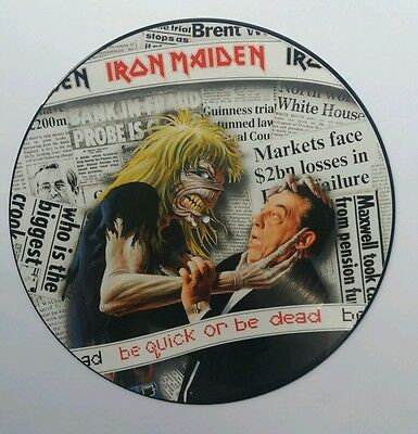 "Iron Maiden Be Quick Or Be Dead 12"" Picture Disc Excellent Condition"
