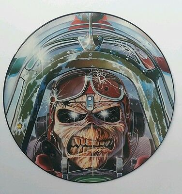 "Iron Maiden Aces High 12"" Picture Disc Excellent Condition"