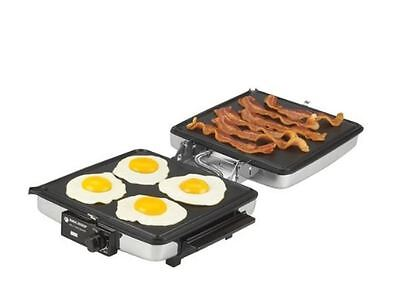 NEW! Stainless Kitchen Griddle Grill Electric Waffle Maker Iron Free Shipping