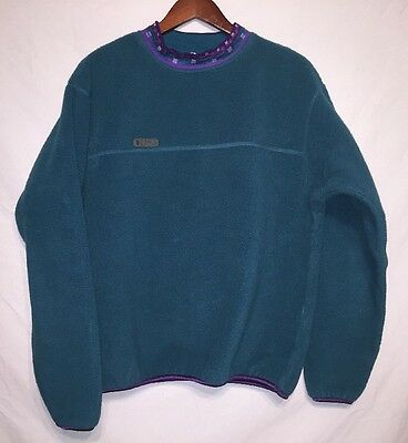 Vintage Women's COLUMBIA Pullover Sweatshirt Sz Medium Aztec Collar USA MADE!