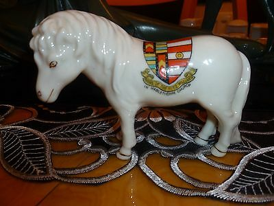 Arcadian Crested China Welsh Pony. Mablethorpe, Arms of the Fitzwilliams.