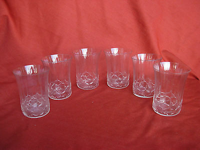 Rare R.lalique, French Art Deco  Glasses,haarlem,set Of 6,signed.