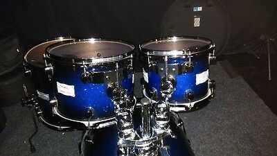 Mapex Saturn Blue Sparkle Drum Kit
