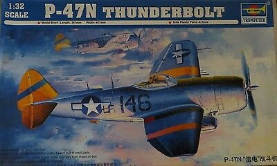 Trumpeter REPUBLIC P-47N THUNDERBOLT 1/32 WWII Fighter MISB USA