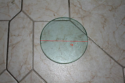 Spare front glass for a Russian 3-bolt diving helmet