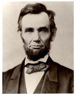 8X10 Inch Photograph Abraham Lincoln By Gardner New