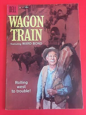 DELL COMICS - WAGON TRAIN - four color # 895  - TV WESTERN - HIGH GRADE - PHOTO