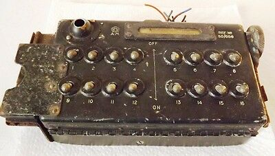RAF Aircraft Bomb Selector Switchbox Type F – LANCASTER, HALIFAX, etc