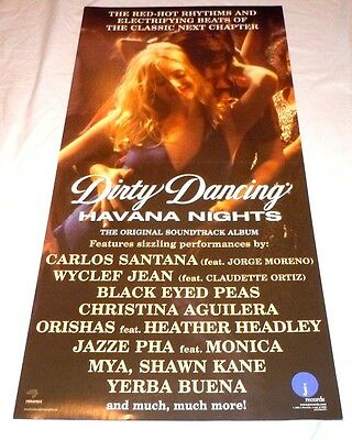 DIRTY DANCING~Havana Nights~Promo Poster Flat~12x24~Double Sided~NM~2004