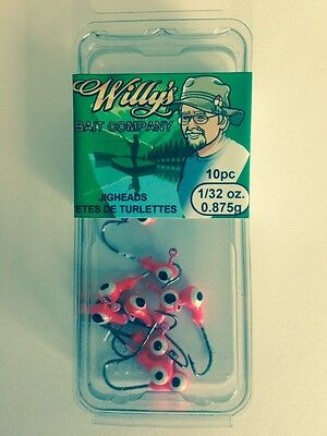 Jigheads 1/32oz - Fishing Tackle - 20 Packages of 10 Jigheads