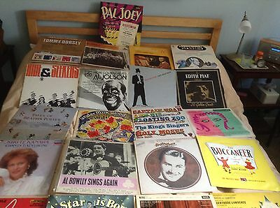 Vintage popular Music Vinyl records, 10s And 12s - shows and single singers