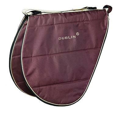 New Dublin Imperial Saddle Bag Large Brown Carry Case Equestrian Horse Pony