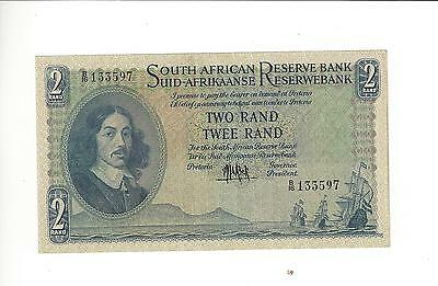 South Africa Old Issue 2 Rands  About Uncirculated