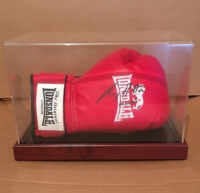 """ricky """"the Hitman""""  hatton Hand signed Lonsdale Boxing Glove In Display Case"""
