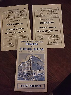 Collection Scottish Cup Programmes 1960s