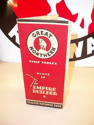 1933 December Great Northern The Empire Builder Time Tables