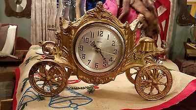 Chariot Carriage Mantel Clock -AS IS-