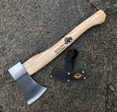 Bison Forged Hand Axe - 800g Hunters Splitter, Splitting Hatchet Made in Germany