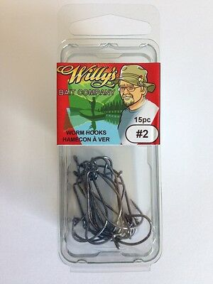 Worm Hooks #2 - Fishing Tackle - 30 Packages of 15 Worm Hooks (450 HOOKS!!!!)
