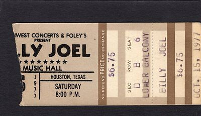 1977 Billy Joel Concert Ticket Stub Music Hall Houston Texas An Innocent Man