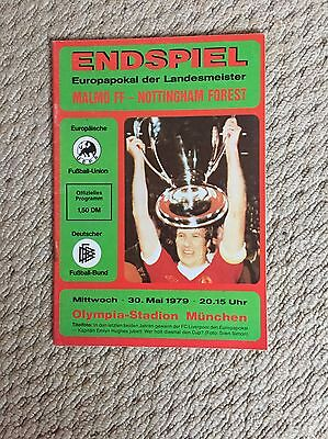 European Cup Final 1979 Programme Nottingham Forest V Malmo