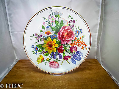 Fenton Bone China Company Plate with Flowers and Guilding