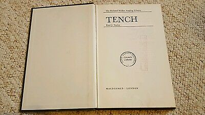 RARE 1st edition FRED TAYLOR fishing book TENCH Richard Walker Anging Library HB