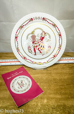 1981 Spode Christmas Collector Plate, Gift, England Bone China, Limited Edition