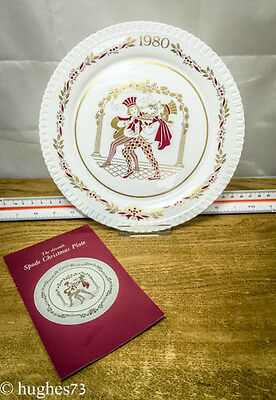 1980 Spode Christmas Collector Plate, Gift, England Bone China, Limited Edition