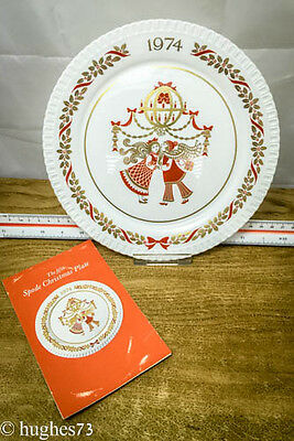 1974 Spode Christmas Collector Plate, Gift, England Bone China, Limited Edition