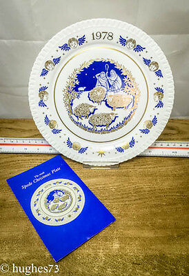 1978 Spode Christmas Collector Plate, Gift, England Bone China, Limited Edition
