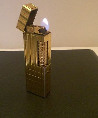 Colibri Gold duo flame lighter John Sterling  Rare London England 1980's