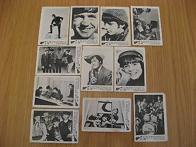 11 X The Monkees 1967 Black & W Trading Cards By Raybert Productions Screen Gems