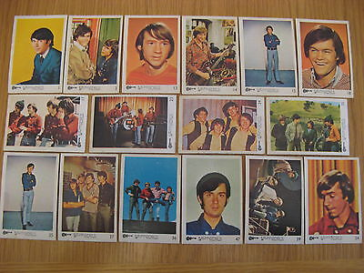 16 X The Monkees Colour Trading cards By Raybert Productions Screen Gems