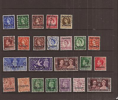 Tangiers  24 Stamps Vfu