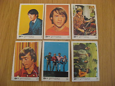 6 X The Monkees 1967 Colour Trading Cards By Raybert Productions Screen Gems