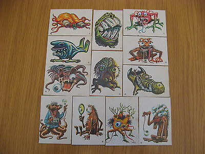 12 A & Bc 1967 Ugly Stickers Incomplete Set. All In Good Condition.
