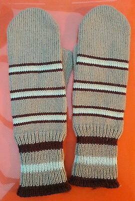 Warm Vintage Mittens stripe adult