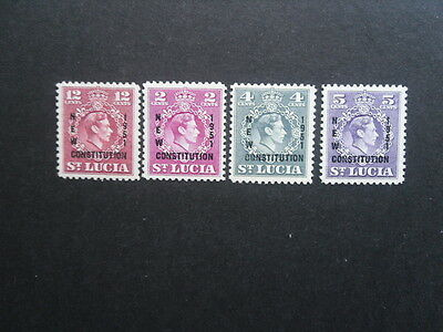 ST LUCIA KGV1 1951 New Constitution SG.167-170  MNH